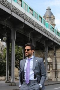 Double-breasted suit by Antonio Manzone - Fabric: wool F.lli Cerruti Super 150's